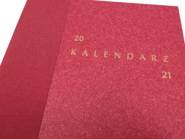 Kalendarz 2021 - bordo tłoczenie