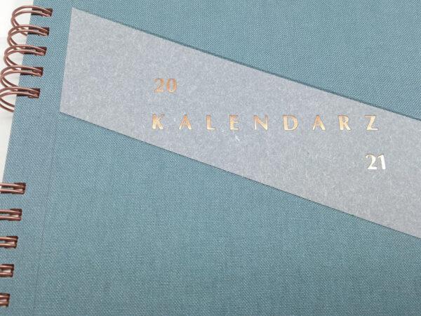 Kołokalendarz 2021 - niebieski tłoczenie