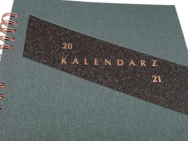 Kołokalendarz 2021 - grafit tłoczenie