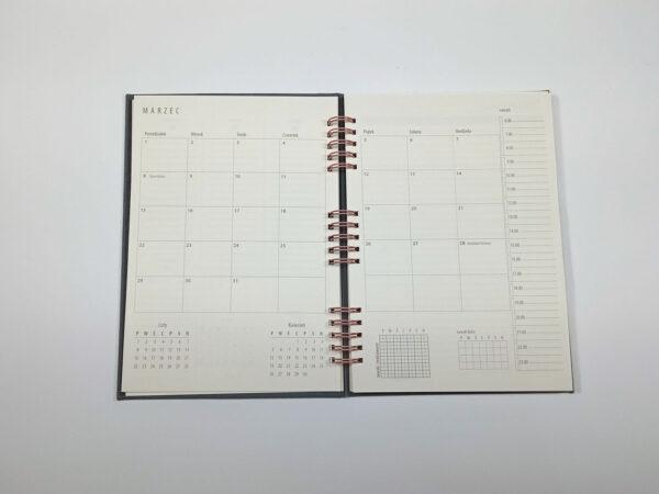 Kołokalendarz 2021 - grafit otwarty