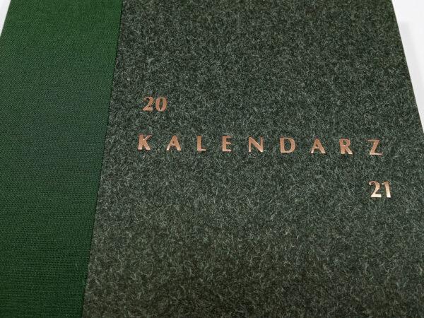 Kalendarz 2021 - zielony tłoczenie