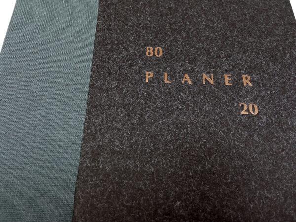Planer bezterminowy 80/20 - czarny tłoczenie