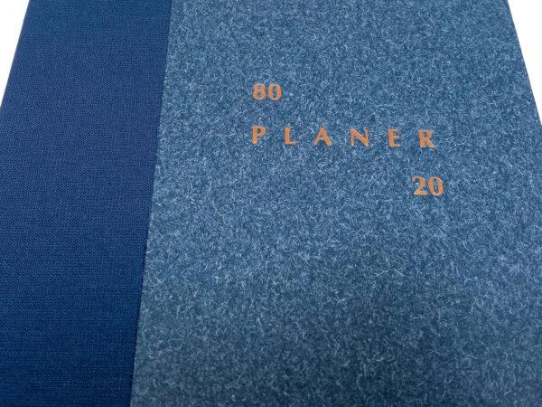 Planer bezterminowy 80/20 - niebieski tłoczenie