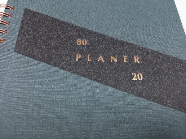 Planer bezterminowy 80/20 spirala - grafit tłoczenie