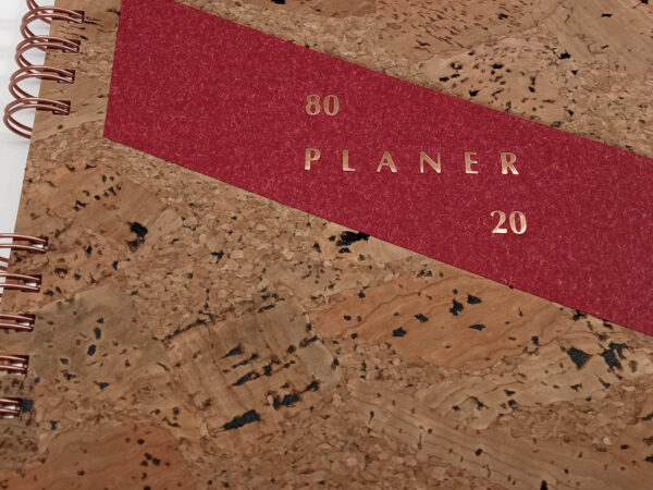 Planer bezterminowy 80/20 spirala - korek tłoczenie
