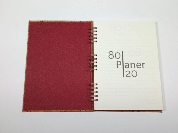 Planer bezterminowy 80/20 spirala - korek otwarty