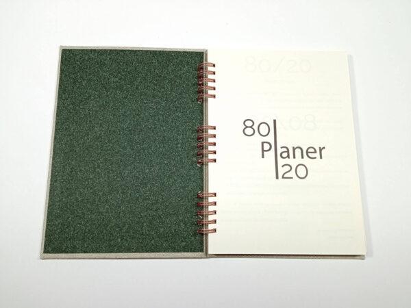 Planer bezterminowy 80/20 spirala - len szary otwarty