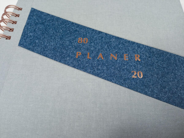 Planer bezterminowy 80/20 spirala - szary tłoczenie