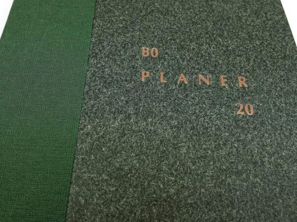 Planer bezterminowy 80/20 - zielony tłoczenie